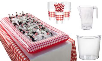 Picnic Party Red Gingham Drink Table Kit