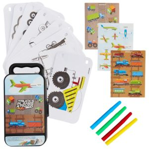 Trucks, Planes & Trains Sticker Activity Box