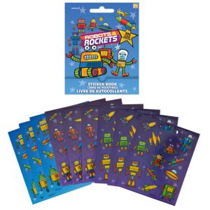 Robots & Rockets Sticker Book 9 Sheets