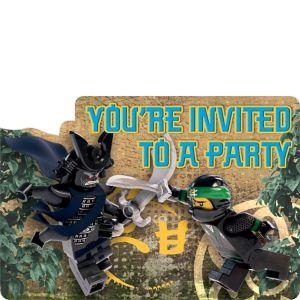 The Lego Ninjago Movie Invitations 8ct