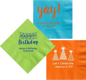 Personalized Birthday Dinner Napkins