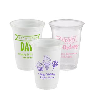 Personalized Birthday Plastic Party Cups 16oz