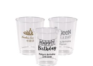 Personalized Birthday Hard Plastic Cups 8oz