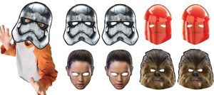 Star Wars 8 The Last Jedi Masks 8ct