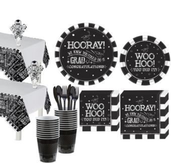Chalk Hooray Graduation Tableware Kit for 36 Guests