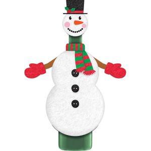 Snowman Wine Bottle Cover 2pc