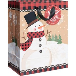 Small Winter Wonder Snowman Gift Bag