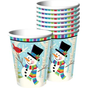Colorful Smiling Snowman Cups 50ct
