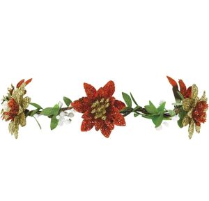 Glitter Poinsettia Headwreath