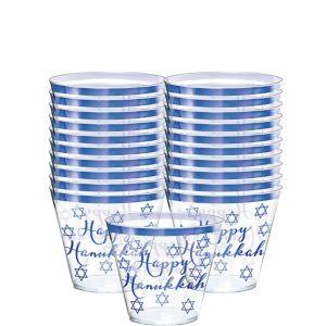 Happy Hanukkah Premium Plastic Tumblers 30ct
