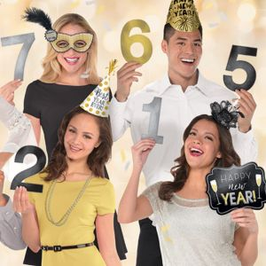 Countdown New Year's Photo Booth Props 12ct