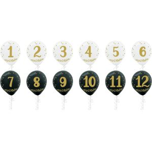 Countdown New Year's Balloons 12ct