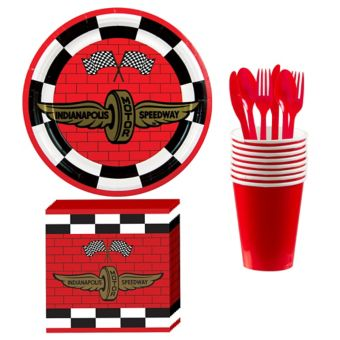 Indy 500 Basic Tableware Kit for 8 Guests