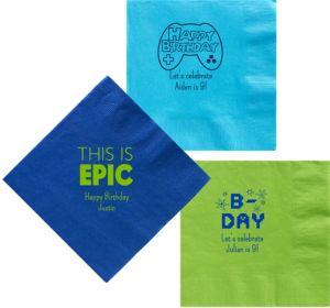 Personalized Boys Birthday Dinner Napkins