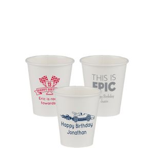 Personalized Boys Birthday Paper Cups 8oz