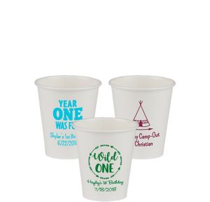 Personalized 1st Birthday Paper Cups 8oz