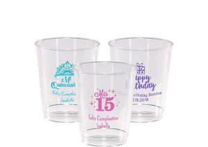 Personalized Milestone Birthday Hard Plastic Cups 8oz