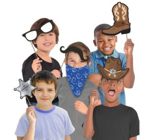 Cowboy Photo Booth Props 10ct