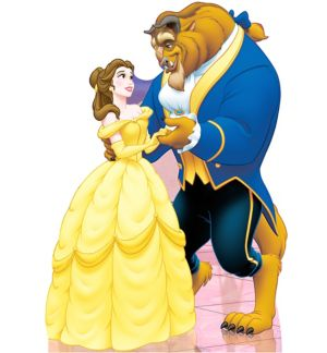 Beauty and the Beast Life-Size Cardboard Cutout