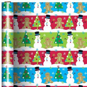 Gingerbread & Snowman Gift Wrap