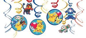 Pokemon Core Swirl Decorations 12ct