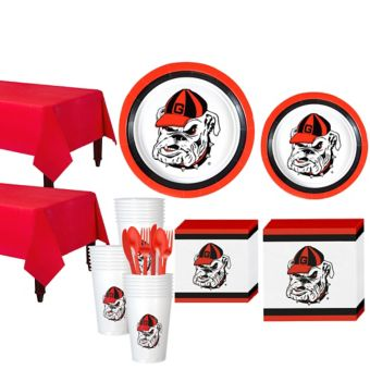 Georgia Bulldogs Basic Party Kit for 40 Guests