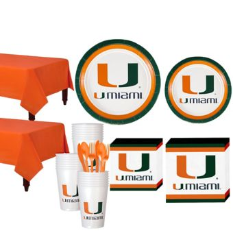 Miami Hurricanes Basic Party Kit for 40 Guests