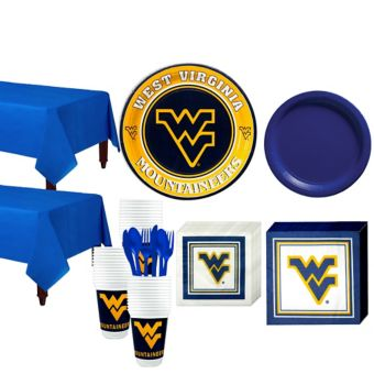 West Virginia Mountaineers Basic Party Kit for 40 Guests