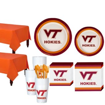 Virginia Tech Hokies Basic Party Kit for 40 Guests