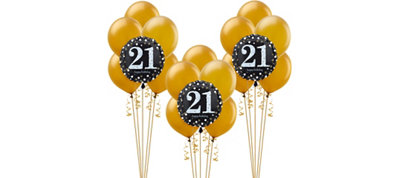 Sparkling Celebration 21st Birthday Balloon Kit