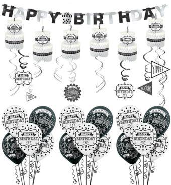 Chalkboard Birthday Decorating Kit with Balloons