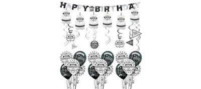 Chalkboard Birthday Decorating Kit with Balloons