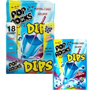 Blue Raspberry Pop Rocks Dips 18ct
