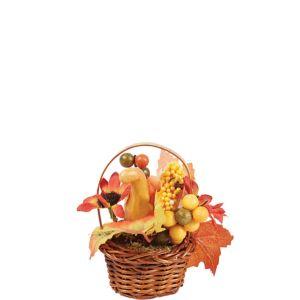 Mini Squash Wicker Basket Decoration