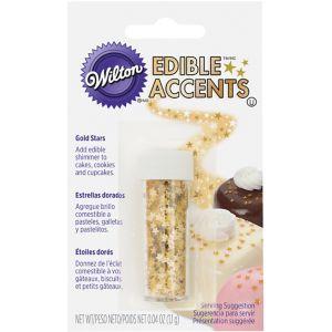 Wilton Metallic Gold Edible Accent Star Sprinkles