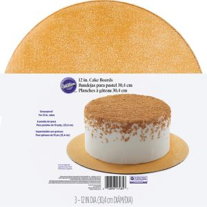 Wilton Glitter Gold Cake Boards 3ct