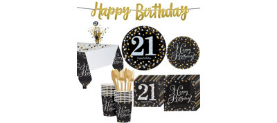 Sparkling Celebration 21st Birthday Party Kit for 16 Guests