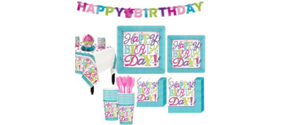 Sweet Birthday Party Kit for 16 Guests
