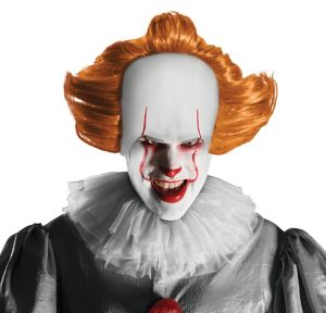 Adult Pennywise Mask with Wig - It