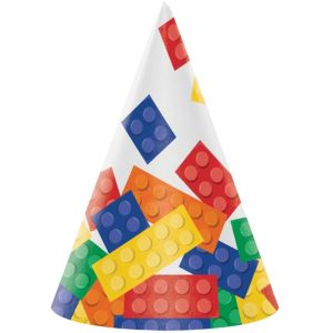 Building Blocks Party Hats 8ct