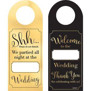 Customizable Wedding Door Hangers 12ct