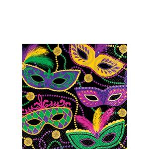 Masquerade Mardi Gras Beverage Napkins 16ct