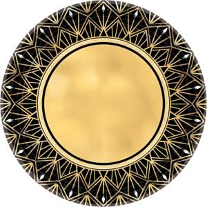 Metallic Hollywood Dinner Plates 8ct