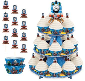Thomas the Tank Engine Cupcake Kit for 24