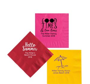 Personalized Summer Beverage Napkins