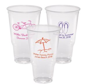 Personalized Summer Plastic Party Cups 32oz
