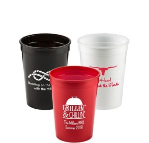 Personalized Summer Plastic Stadium Cups 12oz