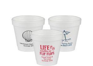 Personalized Summer Foam Cups 4oz