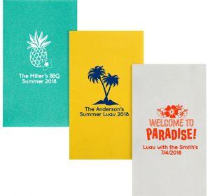 Personalized Luau Premium Guest Towels