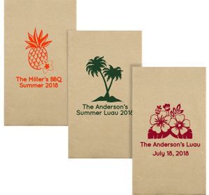 Personalized Luau Eco-Friendly Guest Towels